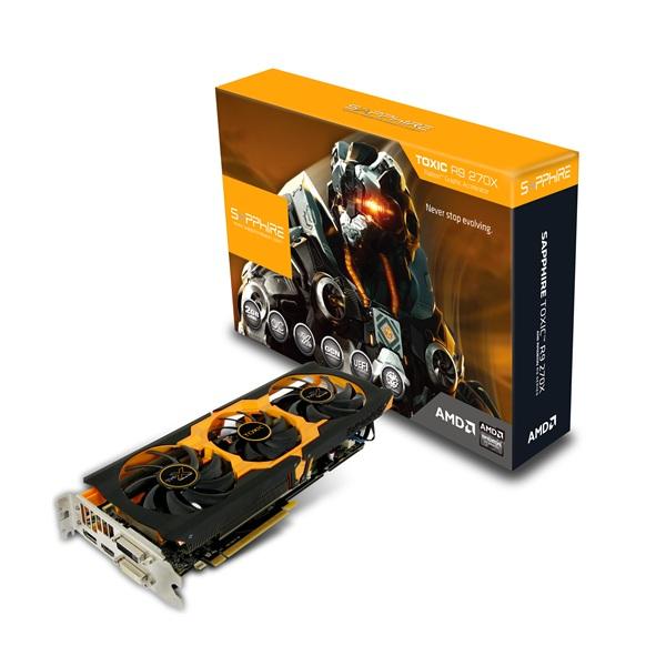 Sapphire TOXIC R9 270X 2G GDDR5 PCI-E DVI-I / DVI-D / HDMI / DP WITH BOOST 正規代理店保証付