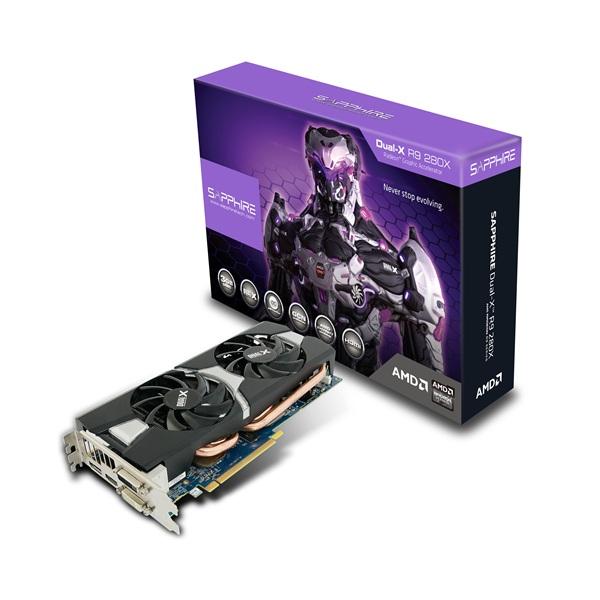 Sapphire R9 280X 3G GDDR5 PCI-E DVI-I / DVI-D / HDMI / DP DUAL-X OC VERSION 正規代理店保証付