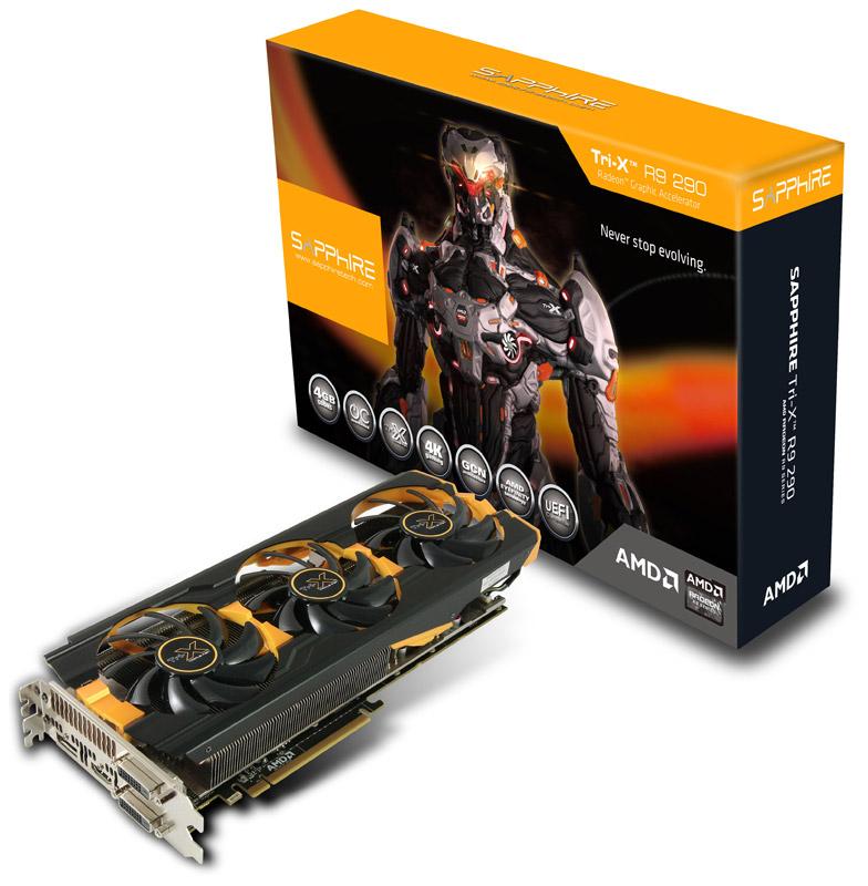 【送料無料】 Sapphire R9 290 4G GDDR5 PCI-E DUAL DVI-D / HDMI / DP TRI-X OC VERSION (UEFI) 正規代理店保証付
