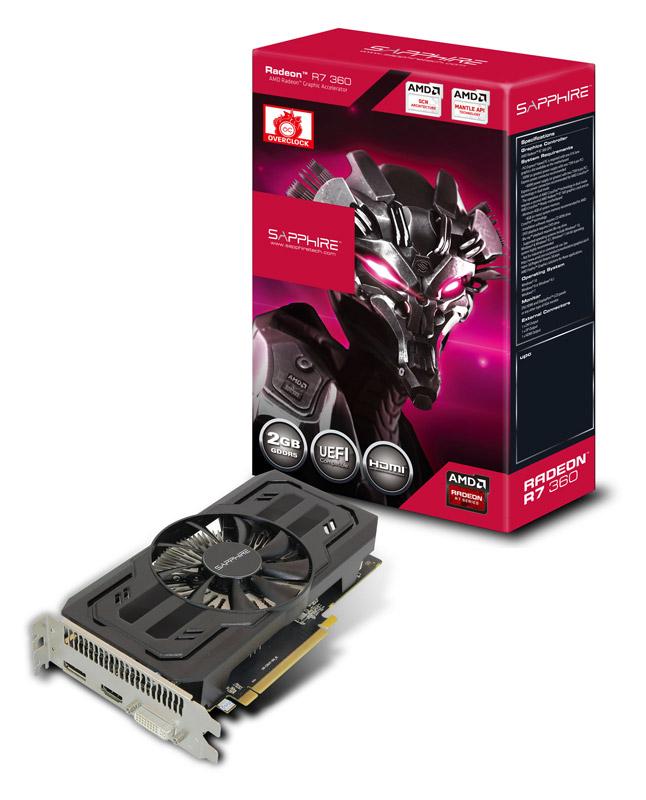 【送料無料】Sapphire R7 360 2G GDDR5 PCI-E H/DI/DP 正規代理店保証付