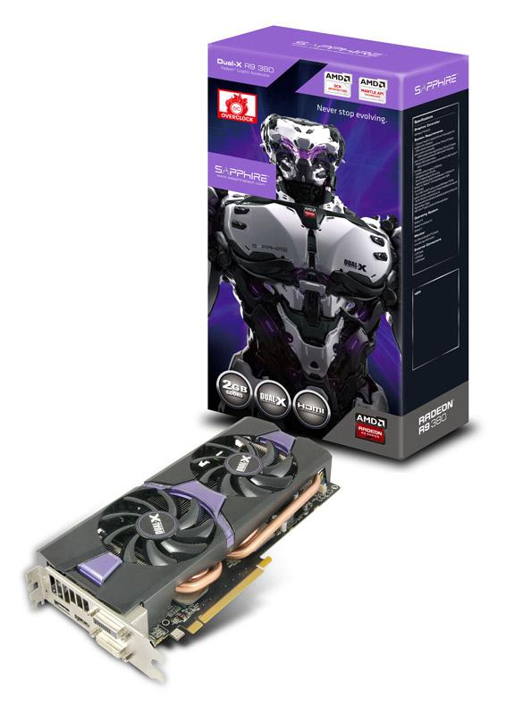 【送料無料】SAPPHIRE R9 380 2G GDDR5 PCI-E DI/DD/H/DP DUAL-X 正規代理店保証付