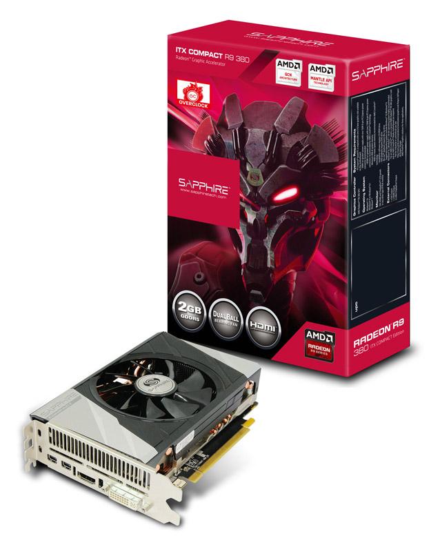 【送料無料】SAPPHIRE R9 380 2G GDDR5 PCI-E H/D/2MDP ITX COMPACT 正規代理店保証付