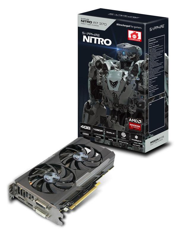 【送料無料】SAPPHIRE NITRO R7 370 4G GDDR5 PCI-E DI/DD/H/DP DUAL-X 正規代理店保証付