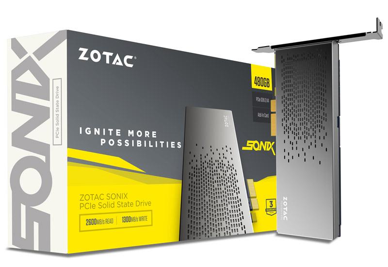 【送料無料】ZOTAC SONIX PCIE 480GB SSD 正規代理店保証付