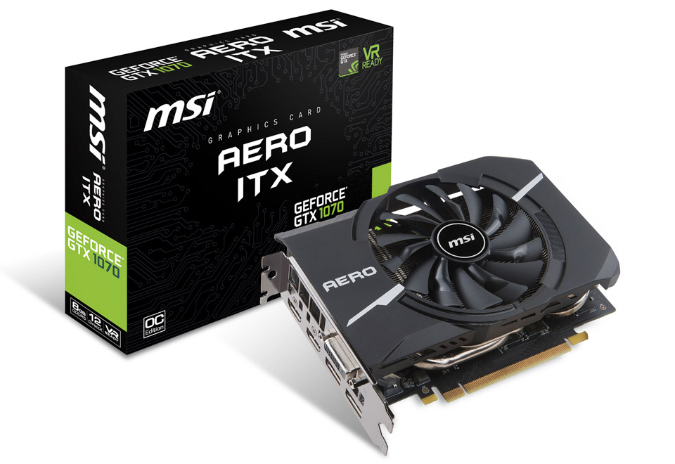 【送料無料】MSI GeForce GTX 1070 AERO ITX 8G OC 正規代理店保証付 vd6305