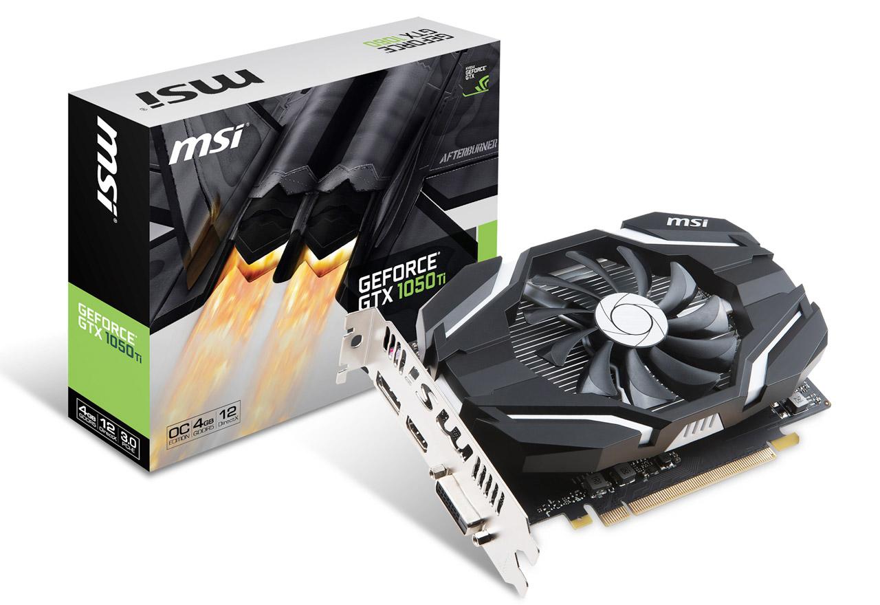 【送料無料】MSI GeForce GTX 1050 Ti 4G OCV1 正規代理店保証付