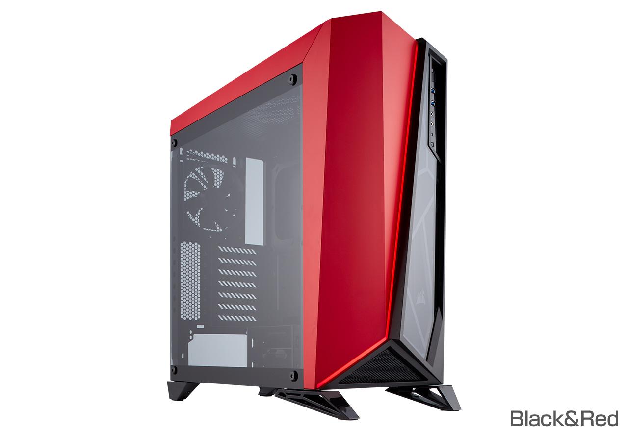 【送料無料】CORSAIR Carbide SPEC-OMEGA Tempered Glass Black&Red 正規代理店保証付