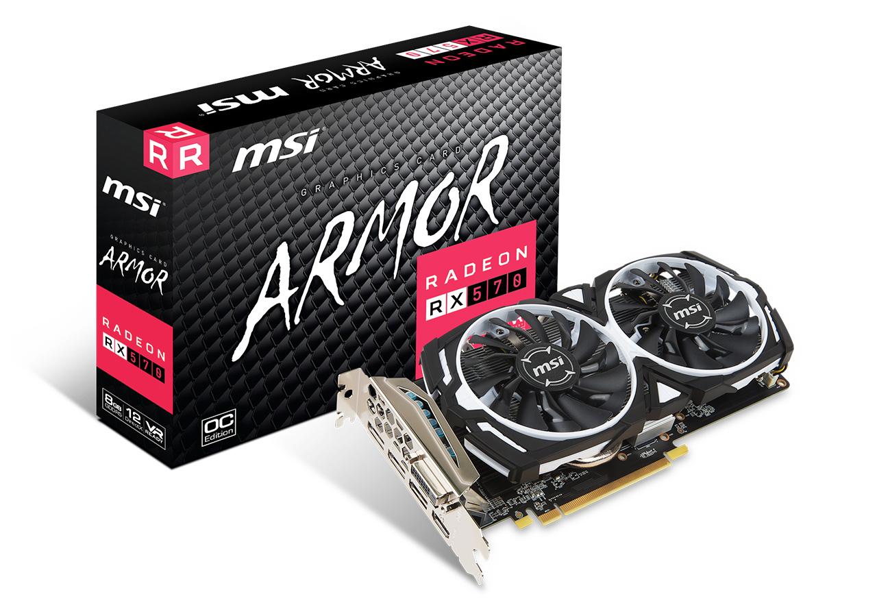 【送料無料】MSI Radeon RX 570 ARMOR 8G OC 正規代理店保証付