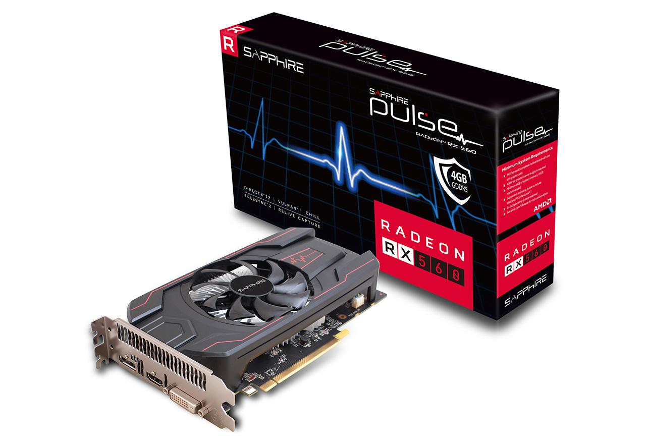 【送料無料】SAPPHIRE PULSE RADEON RX 560 4G GDDR5 HDMI / DVI-D / DP OC (UEFI) 正規代理店保証付 vd6594