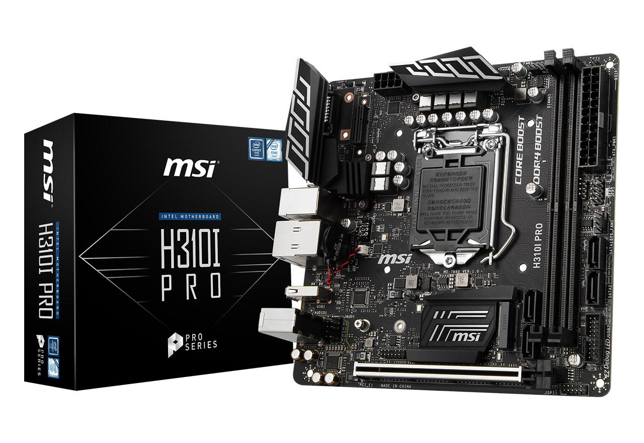 【送料無料】MSI H310I PRO 正規代理店保証付