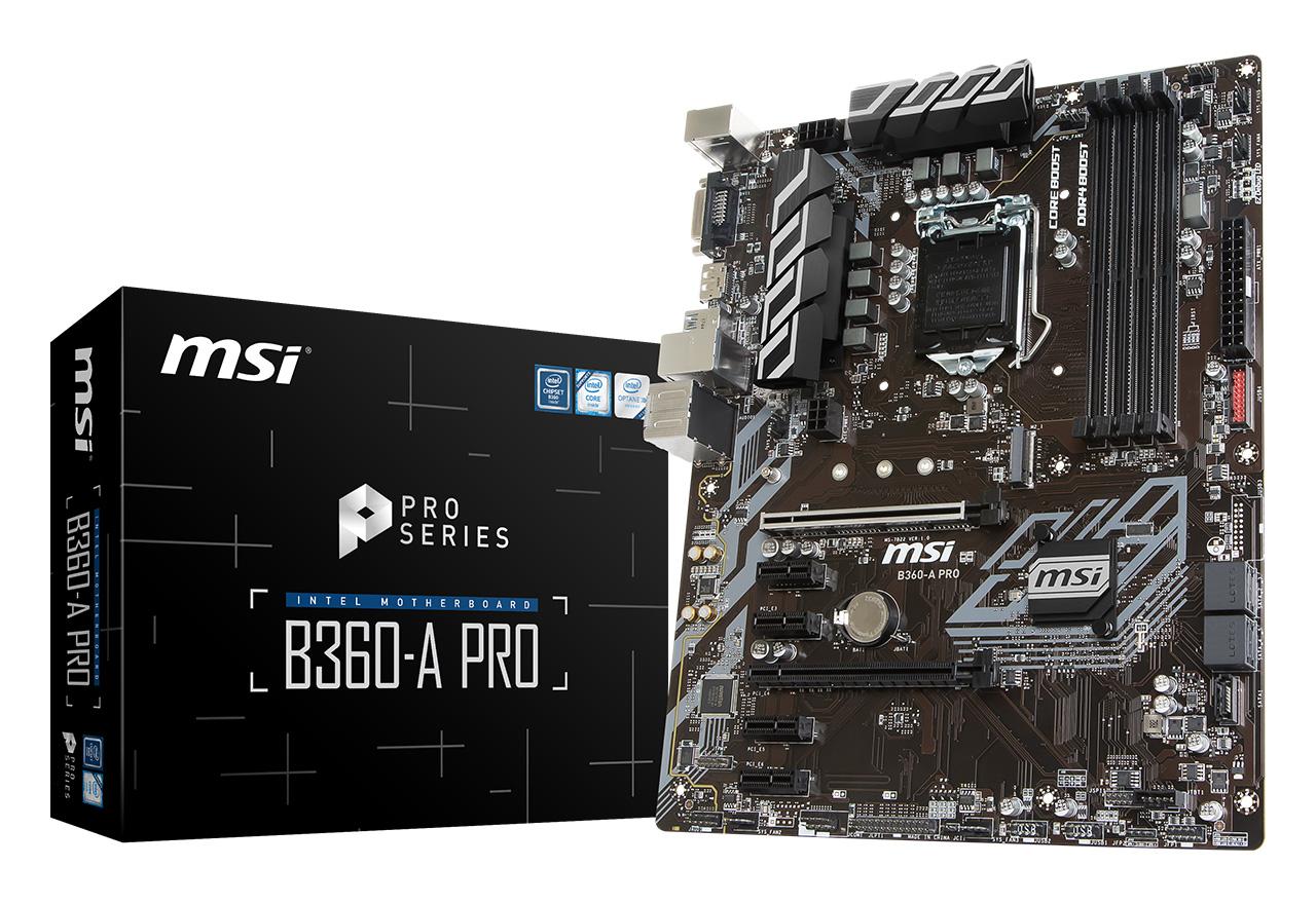 【送料無料】 MSI B360-A PRO 正規代理店保証付 mb4672