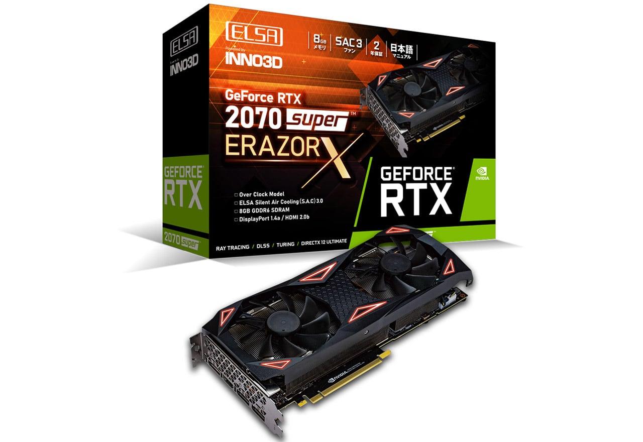 【送料無料】ELSA GeForce RTX 2070 Super ERAZOR X 正規代理店保証付 vd7309