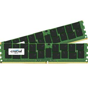 【送料無料】crucial 64GB Kit (32GBx2) DDR4 2133 MT/s (PC4-2133) CL15 QR x4 ECC Load Reduced DIMM 288pin 正規代理店保証付