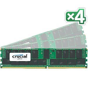 【送料無料】crucial 128GB Kit (32GBx4) DDR4 2133 MT/s (PC4-2133) CL15 DR x4 ECC Registered DIMM 288pin 正規代理店保証付