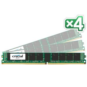 【送料無料】crucial 64GB Kit (16GBx4) DDR4 2133 MT/s (PC4-2133) CL15 DR x4 VLP ECC Registered DIMM 288pin 正規代理店保証付