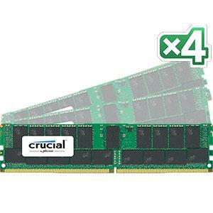 【送料無料】crucial 128GB Kit (32GBx4) DDR4 2400 MT/s (PC4-2400) CL17 DR x4 Registe赤 DIMM 288pin 正規代理店保証付