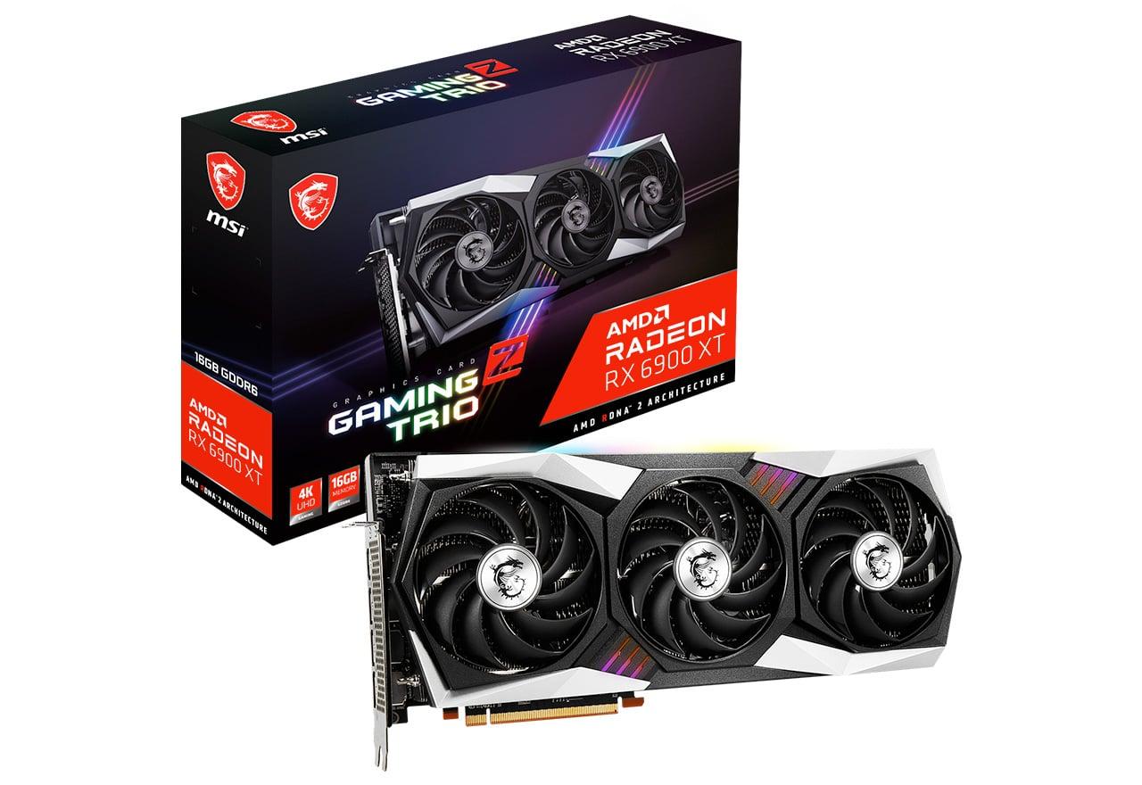 グラフィックスボード MSI Radeon RX 価格 6900 XT 国内正規総代理店アイテム 16G Z 正規代理店保証付 GAMING TRIO vd7690