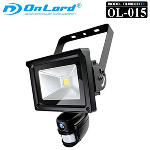 【送料無料】人感センサー LEDライト センサーライト型 防犯カメラ OnLord オンロード 「 OL-015 」