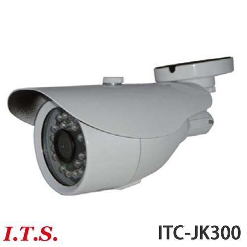 防雨型 赤外線搭載 220万画素カラーカメラ「ITC-JK300」 防犯カメラ 監視カメラ 夜間撮影【送料無料】