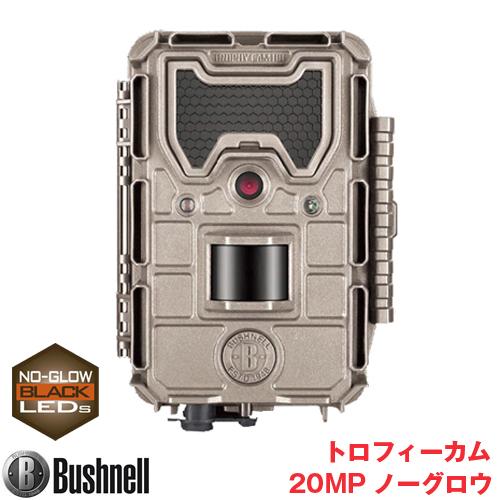 Bushnell(ブッシュネル)正規品 トレイルカメラ 人感センサー搭載 白黒テキストLCD内蔵 屋外型センサーカメラ トロフィーカム 20MP ノーグロウ BTR-20MP-N