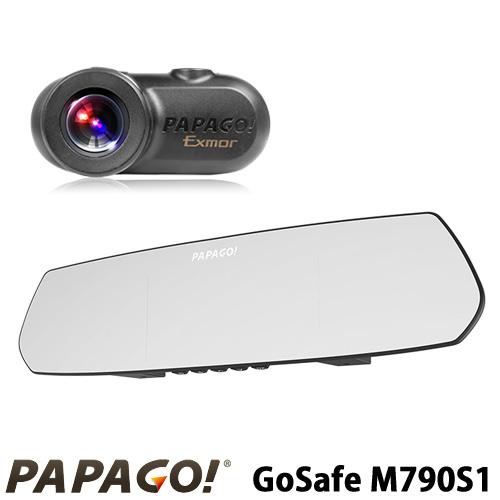 PAPAGO! パパゴ 5インチ液晶TFTモニター搭載 ルームミラー型 2カメラ ドライブレコーダー GoSafe M790S1 GSM790S1-32G【4月17日発売予定】