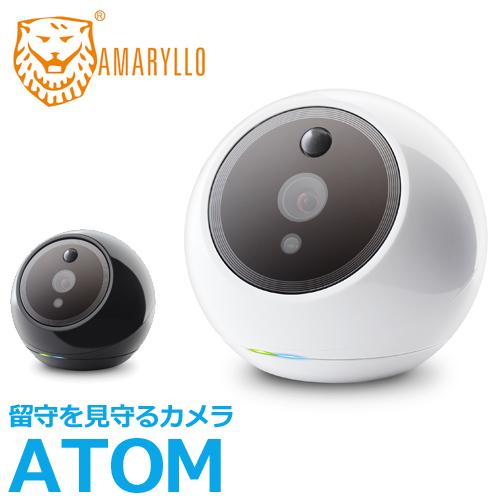 AMARYLLO アマリロ 顔認証自動追跡機能搭載 見張り番 セキュリティ 防犯カメラ Amaryllo ATOM ブラック/ホワイト