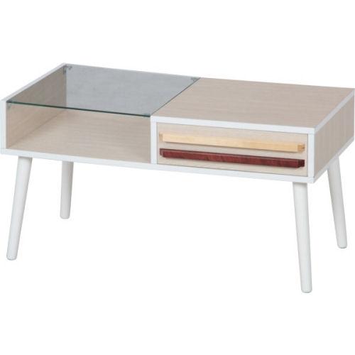 【送料無料】引出付強化ガラステーブル【koshin0601】fr【YDKG-f】 02P12Jun12