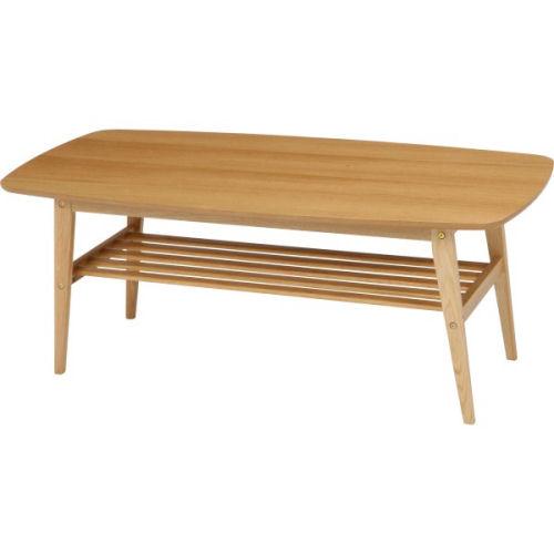 【送料無料】天然木オーク材の美しいナチュラル色便利な中棚付です。