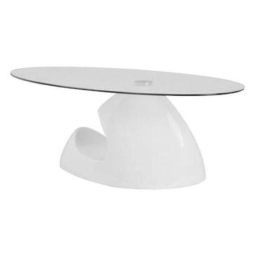 【送料無料】モダンタイプのガラステーブル8mm強化ガラス・フレームエナメル仕上げ