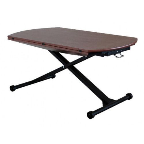 【送料無料】折りたたみ式の面長の天板は、サイドを開くことで簡単に2人用から5人用サイズへと調節が可能なため活用の幅が広がります昇降式テーブル