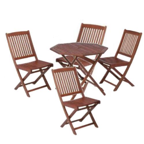 【送料無料】木製ガーデン5点セットテーブル×1/チェア×4【koshin0601】fr【YDKG-f】 02P12Jun12