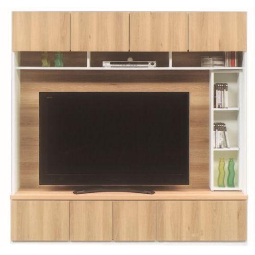 【送料無料】開梱設置付き/大型TV収納ができます 中棚左右移動ができます・2色より選べます。