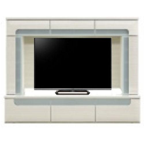 【送料無料★1204モダンリビング】洗練された激安大型テレビボード正面から見たら内側をガラスで囲ったオシャレなデザイン