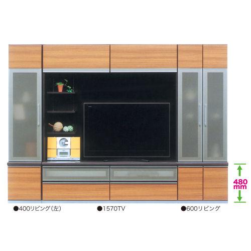 【モダンリビング開梱設置付き・国内品】◆お部屋に合わせて20色より選べるTVボード3点セット