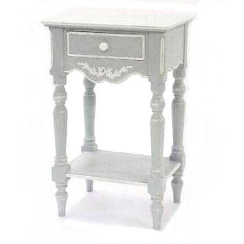 【送料無料】【フレンチカントリー】キャビネット【アンティーク仕上げ/サイドテーブル】飾り木手彫り