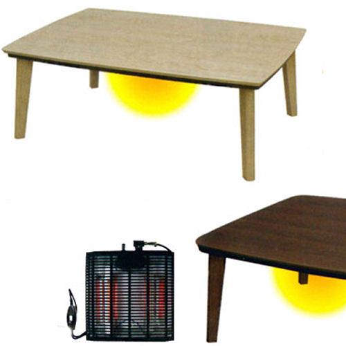 【送料無料】UV仕上げのリビングコタツスマートなデザインでヒーター500W石英管使用