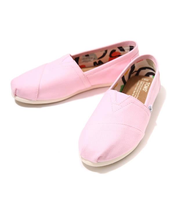 Toms shoes TOMS SHOESWOMENS SEASONAL CLASSICS  Pink Icing CanvasTOMS Womens shoes shoes slipon 10004970