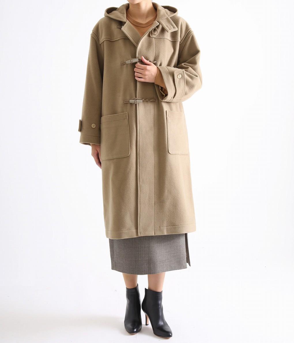 AURALEE / オーラリー : CASHMERE WOOL MOSSER BIG DUFFLE COAT : ロング丈 ダッフルコート カシミヤ ウールモッサーコート ビックシルエット : A8AC03MC 【ANN】