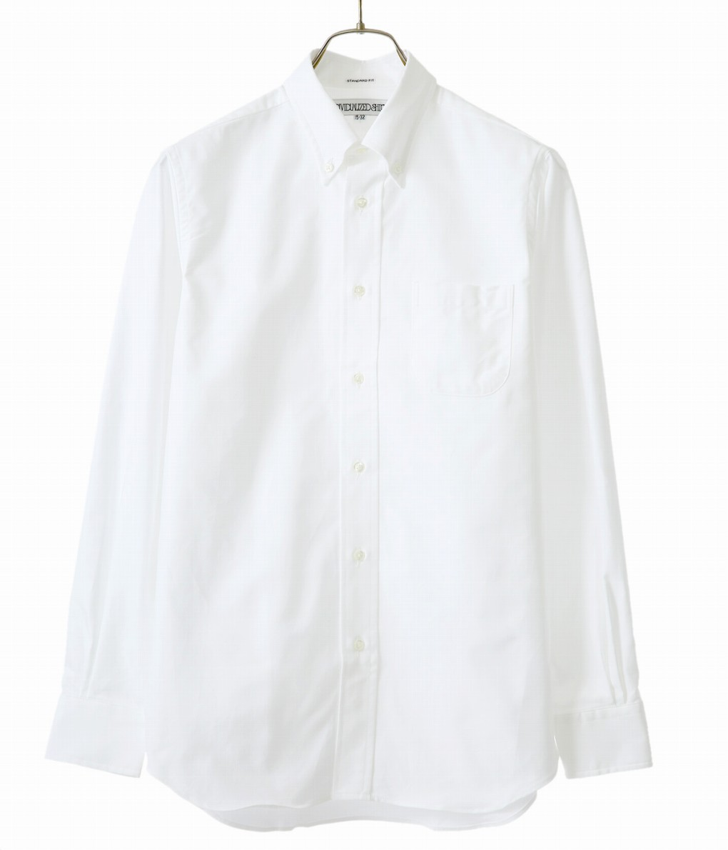 【期間限定送料無料!】INDIVIDUALIZED SHIRTS / インディビジュアライズドシャツ : L/S Standard Fit Cambridge OX B.D shirts -MBDM- : 長袖 ケンブリッジ オックスフォード ボタンダウン シャツ 白シャツ メンズ : IDS-00000-1-standard-CAM-WHT【MUS】
