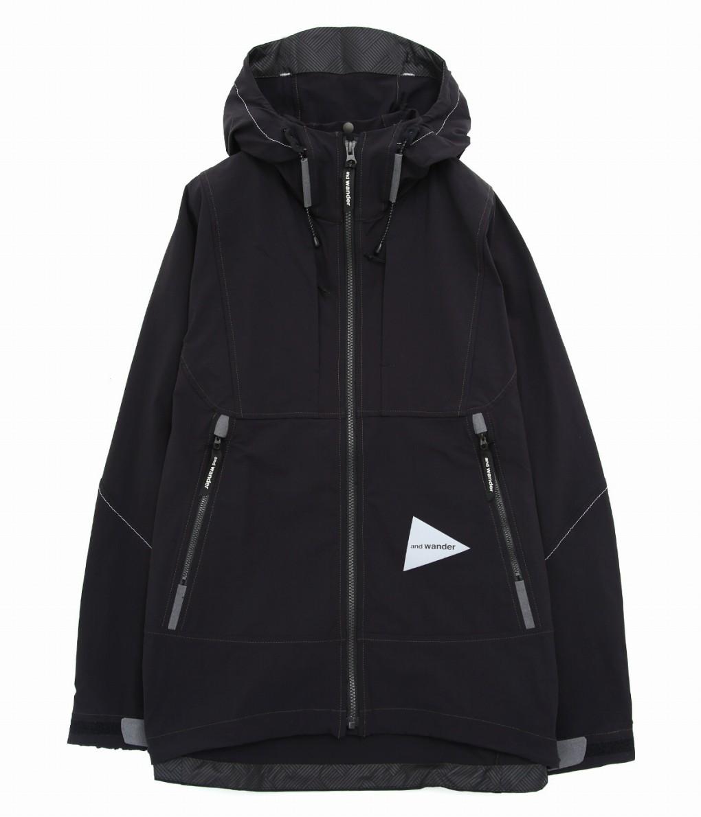【期間限定送料無料!】and wander / アンドワンダー : nylon stretch jacket : ナイロン ジャケット ナイロンストレッチジャケット メンズ : AW91-FT042 【PIE】