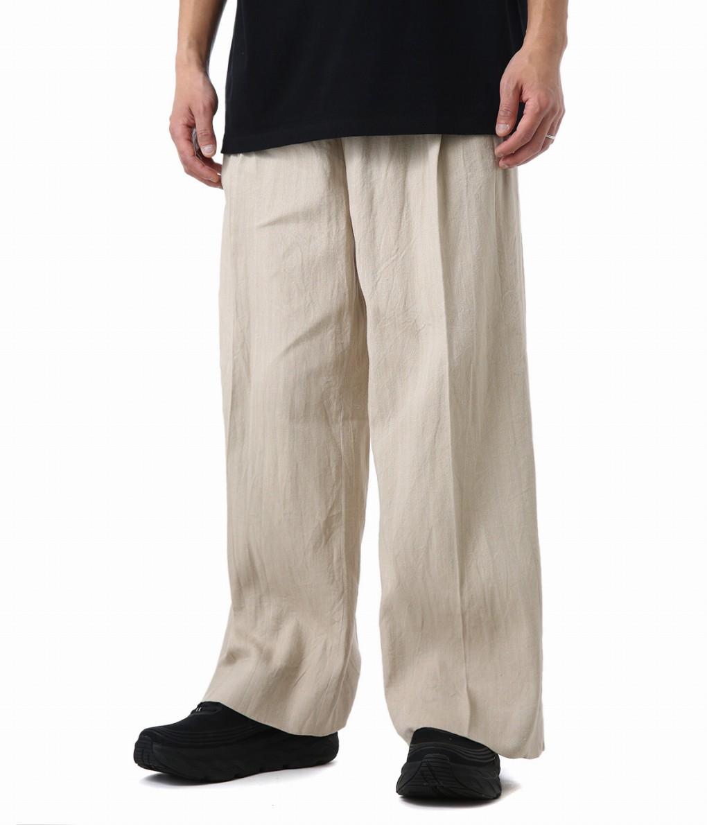 UNUSED / アンユーズド : One pleats wide pants : ワイドパンツ ワークパンツ パンツ メンズ : UW0746 【NOA】