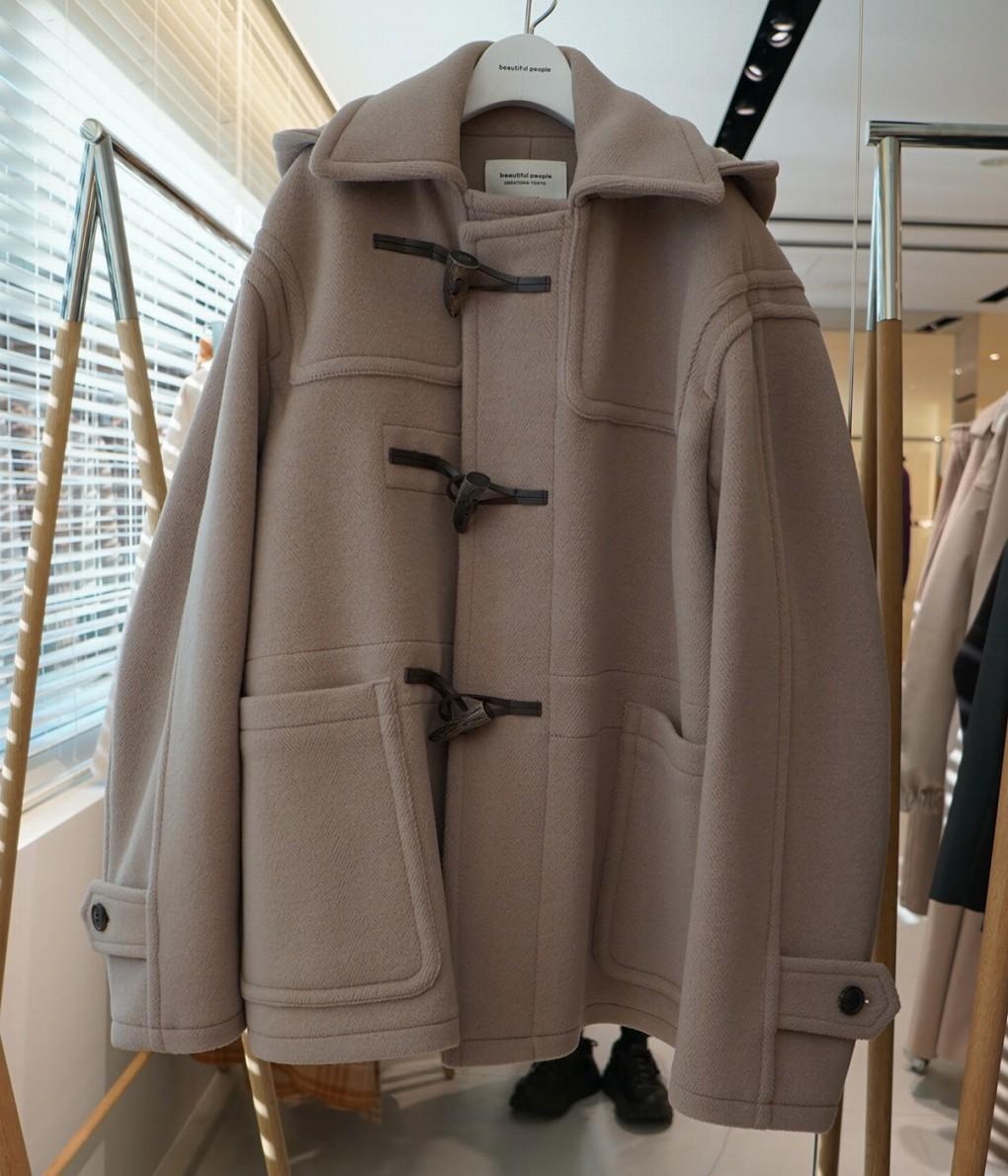 ■【予約商品 2019年9月~10月入荷予定】beautiful people / ビューティフルピープル : pile melton duffel coat : ビューティフルピープル パイル メルトン ショート ダッフルコート レディース : 1935103013 【ANN】