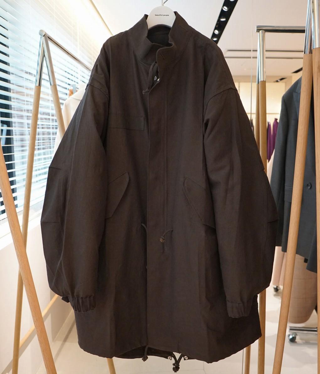 ■【予約商品 2019年9月~10月入荷予定】beautiful people / ビューティフルピープル : mohair gabardine military mods coat : オーバーサイズ モヘア ギャバジン ミリタリー モッズコート ライナー取外可能 キルティング : 1935103021 【ANN】