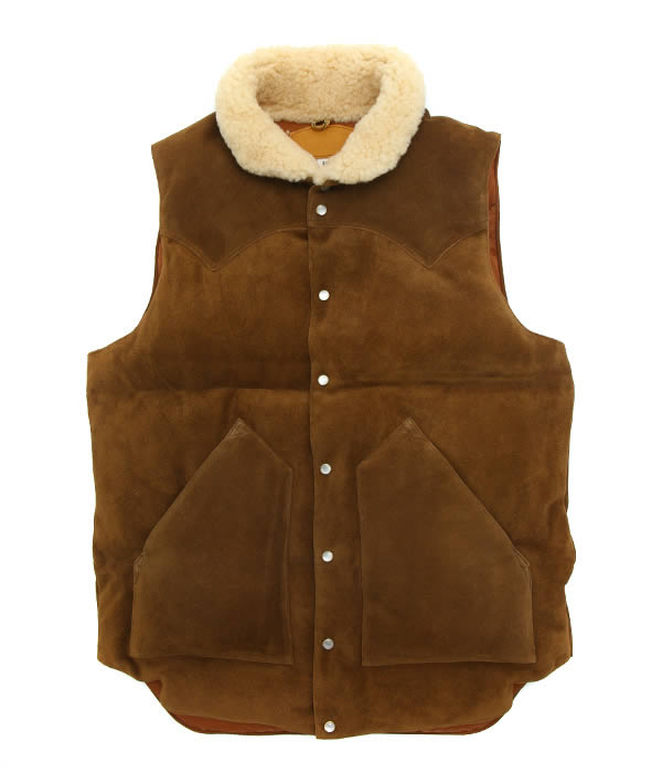 ROCKY MOUNTAIN FEATHER BED / ロッキーマウンテンフェザーベッド : LEATHER CHRISTY VEST (LCV) : ダウン ロッキーマウンテンダウン レザークリスティーベスト メンズ : 200-182-08 【STD】