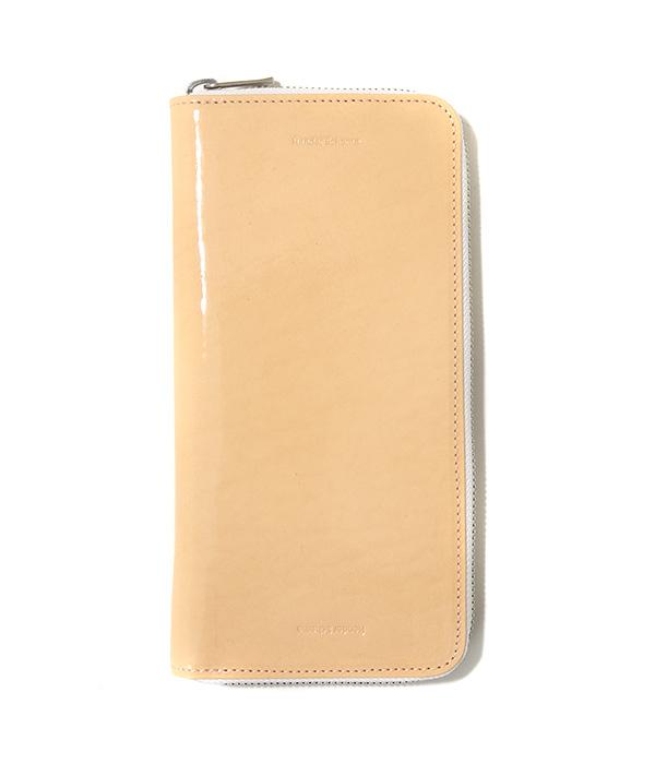 Hender Scheme / エンダースキーマ : long zip purse -patent natural- : ロングジップ ポーズ レザー ウォレット 財布 長財布 メンズ : fl-rc-lzp【RIP】