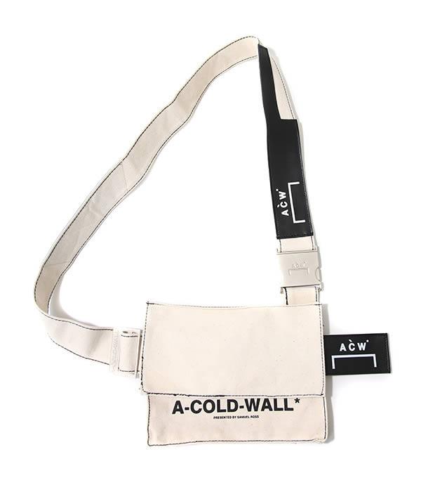 終了間際!【期間限定送料無料!】A-COLD-WALL* / ア コールド ウォール : CANVAS UTILITY BAG w LEATHER P : キャンバス ユーティリティー バッグ 18AW 18秋冬 : B2-NAT 【WAX】