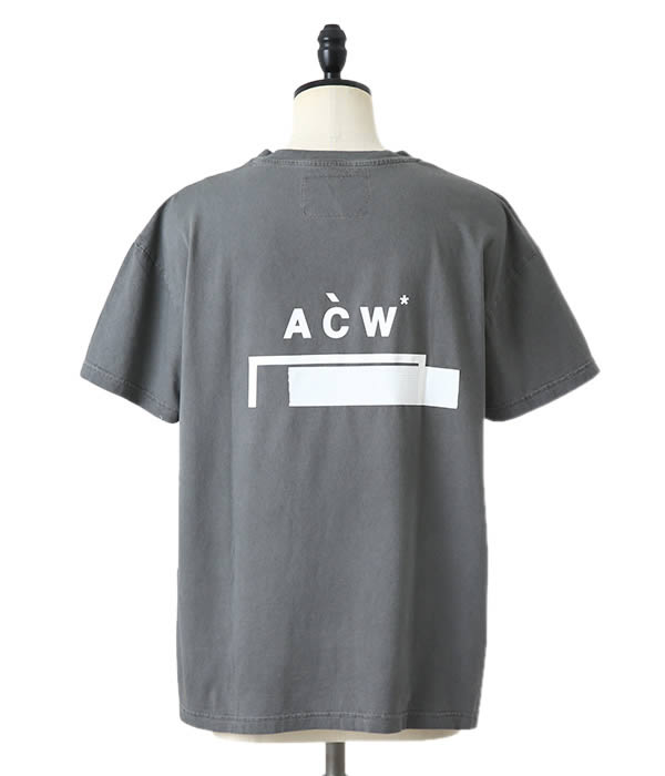 A-COLD-WALL* / ア コールド ウォール : ACW BRACKET LOGO TSHIRT w DUCT : エーシーダブリュー アコールドウォール ブラケット ロゴ ティーシャツ ダクト 18AW 18秋冬 : SLATETEE4 【WAX】