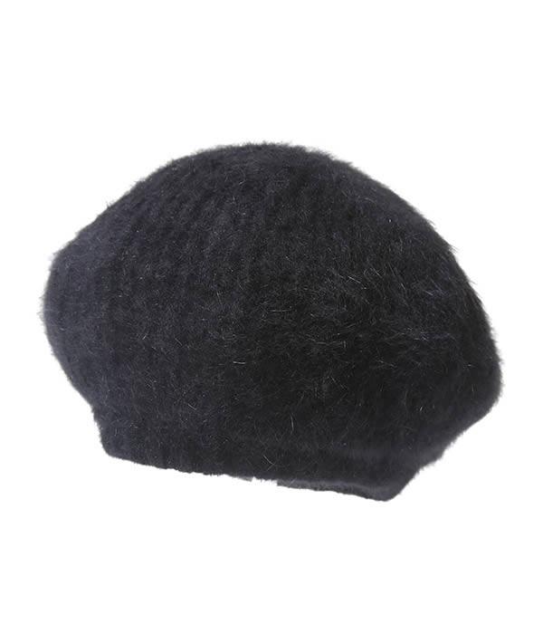 KIJIMA TAKAYUKI / キジマ タカユキ COEUR クール : 【レディース】ANGOLA BERET-BLACK- / : アンゴラ ベレイ ベレー帽 ウール ウーマン レディース : WKN-182924【ANN】