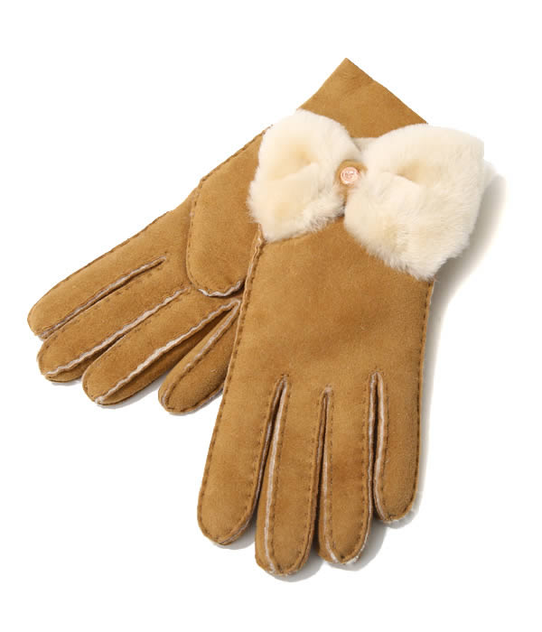 UGG / アグ : 【レディース】W BOW SHORTY GLOVE BX / 全2色 : ギフト ムートン 手袋 リボン グローブ : 17368BX 【DEA】