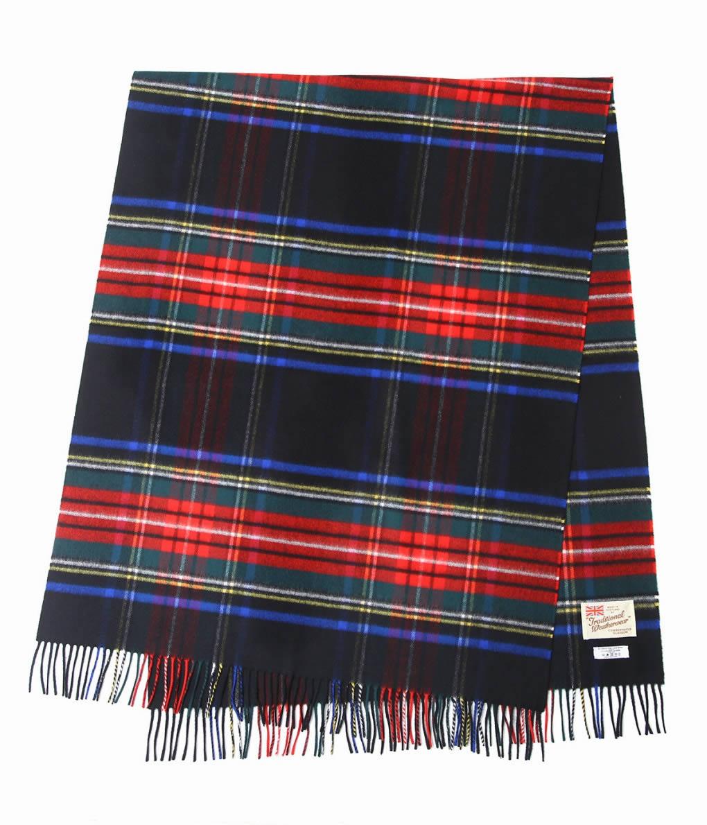 Traditional Weather Wear / トラディショナルウェザーウェア : BLANKET MUFFLER C/W : ブランケット マフラー タータンチェック カシミヤ : A182JGGO0144【ANN】